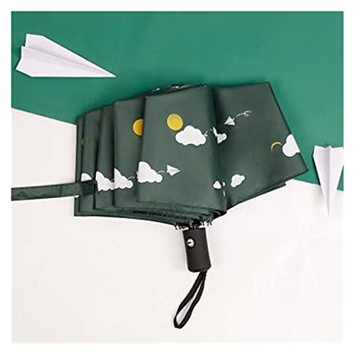 GUIYONGMY Paraguas Impermeable Automático Plegable Umbrella Lluvia Mujeres Viajes Sun Paraguas para niños Chicas Lindas Parasol Hombre (Color : White)