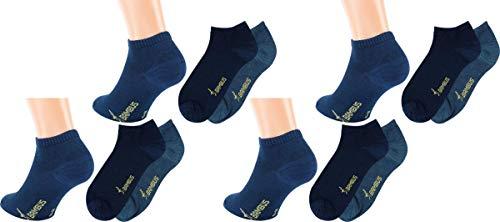 RS. Harmony | Sneaker Socken | Bambus Super Weich Atmungsaktiv | 12 Paar | mittel-dunkel jeans, marine-melange | 35-38