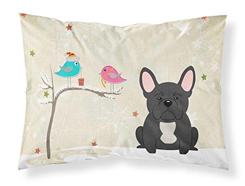Caroline's Treasures BB2486PILLOWCASE Between Friends French Bulldog Black Fabric Standard Pillowcase, Standard, Multicolor