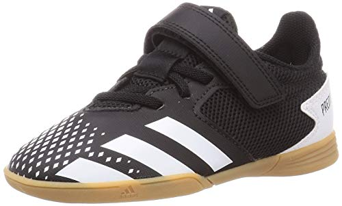 adidas Predator 20.4 H&L IN Sala J, Zapatillas de fútbol Unisex niños, NEGBÁS/FTWBLA/GUM3, 36 EU