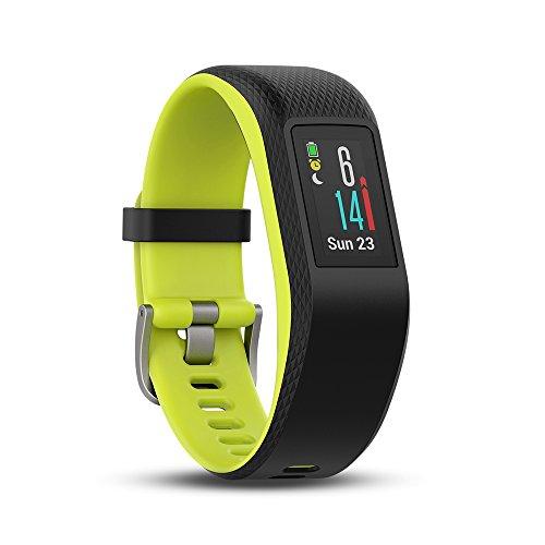 Garmin Vivosport - Bracelet de Sport avec GPS et Cardio Poignet - Taille L - Noir/Citron Vert