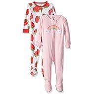 Carter's Baby Girls 2-Pack Cotton Pajamas