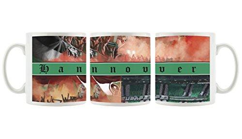 Ultras Hannover Collage als Bedruckte Kaffeetasse/Teetasse aus Keramik, 300ml, weiß