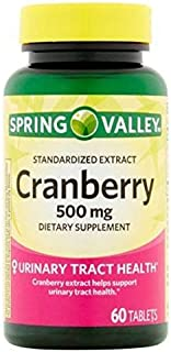 Spring Valley – Cranberry 500 mg, Standardized Extract, 60 Tablets