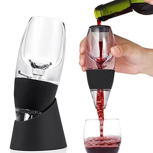 JSSEVN Aireador de vino, juego de aireador de vino tinto, decantador, decantador de vino tinto con filtros para purificador de aire, bolsa de viaje, para bares y uso doméstico