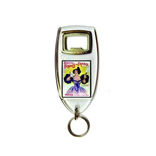 Parfums femmes de france retro shabby chic vintage stijl acryl sleutelhanger sleutelhanger en flesopener