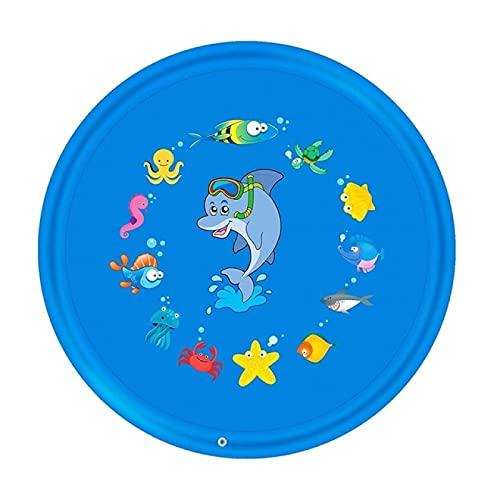 RONGXIANMA Almohadilla para Salpicaduras para niños, césped al Aire Libre, Playa, Animales Marinos, rociador de Agua Inflable, Alfombrilla de Juego para niños