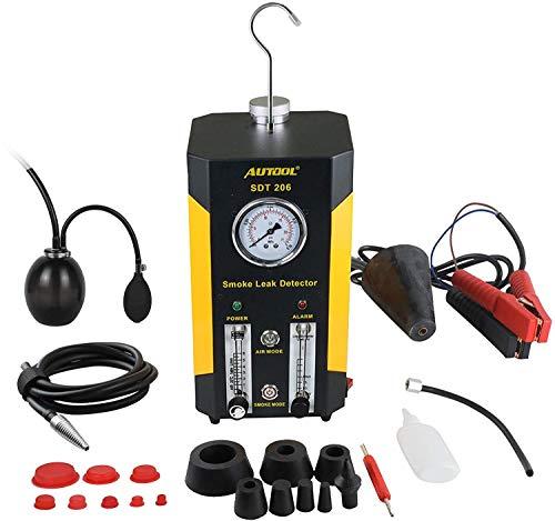 AUTOOL SDT-206 Automotive EVAP Lecks Testgerät, 12 V Fahrzeugleitungen, Kraftstoffleck-Detektor, Diagnose-Tester für Auto/Motorräder/Boot (neueste Dual-Modi)