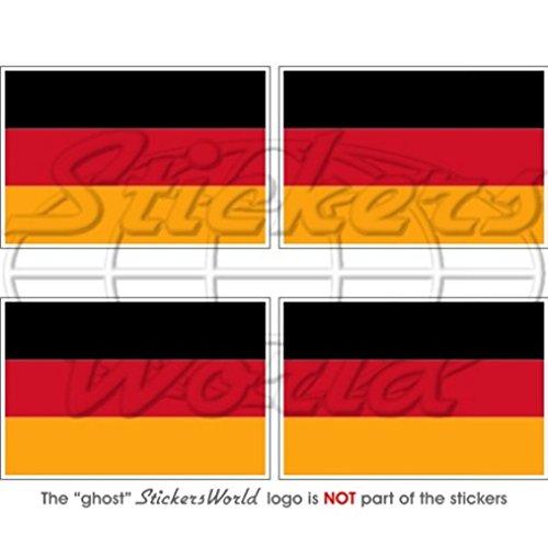 Allemagne Drapeau allemand Deutschland 5,1 cm (50 mm) Vinyle Bumper-helmet Stickers, décalcomanies X4