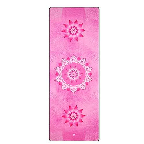 LLY Manta De Yoga Toalla Toalla Absorbente de Sudor Gamuza Portátil Estera de Tela de Yoga Estera de Yoga Longitud de La Toalla 72.83 Pulgadas Ancho 26.77 Pulgadas Grosor 0.04 Pulgadas