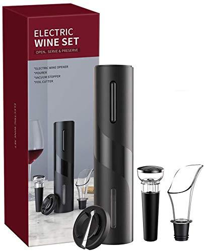 Yeglg Abrebotellas eléctrico totalmente automático – Vertedor de vino, cortador de aluminio, corcho al vacío, cable de carga USB, para todos los amantes del vino y el vino