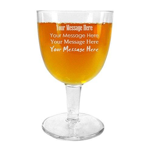 TUFF LUV Lot de 2 Ale Abbey Glass/Verres Craft Beer Personnalisés Gravé Dégustations - Verre à Bière - 418ml (14.25oz)