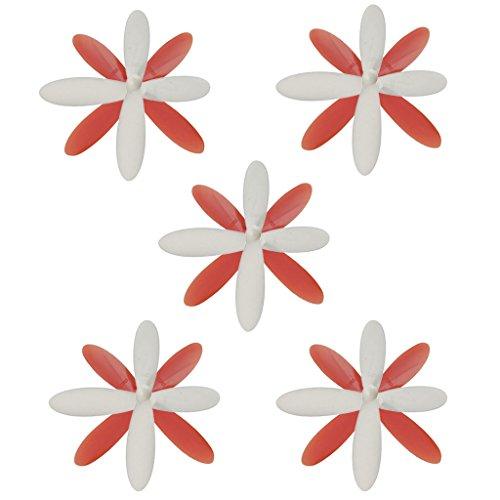 T TOOYFUL 20 Piezas de Hélice Duradera Blanca Y Roja para X4 H107L H107C H107D RC Drone