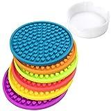 HomeMall Silikon Untersetzer,Farbe Herzförmig Getränkeuntersetzer für Bar Wohnzimmer Küche Mit Aufbewahrungsbox (Farbe)