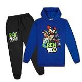 B-en 10 Hoodies Sweatshirt and Sweatpants Casual Sports Tracksuit Set for Boys Girls