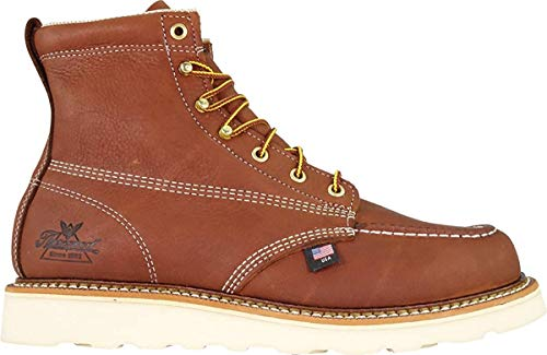 Thorogood Men's 814-4200 American Heritage 6' Moc Toe, MAXwear Wedge Non-Safety Toe Boot, Tobacco Oil-Tanned - 10.5 D US
