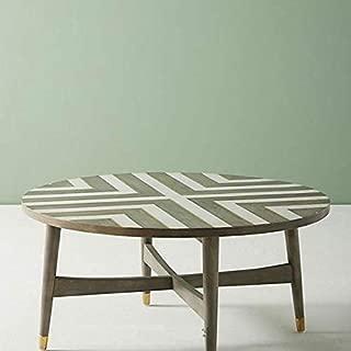 Geometric Pattern Bone Inlay Coffee Table