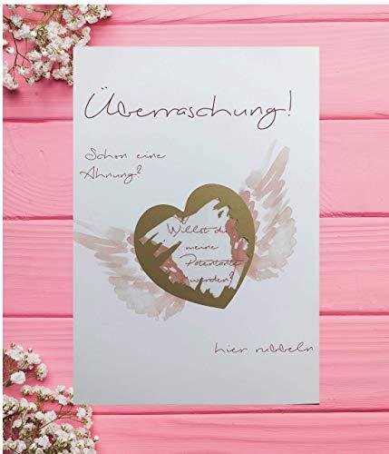 Rubbelkarte Patentante rosa + tollen Chip -> Willst du meine Patentante sein ? -> Taufe, Geburt, Kindertaufe, Tante Pate, Geschenk, Überraschung, Kindtaufegeschenk, Geschenke für Patentante