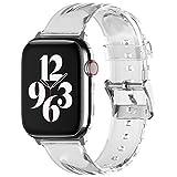 elago Correa Clear Compatible con Apple Watch Band 38mm 40mm 42mm 44mm, Compatible con Series iWatch 6 SE 5 4 3 2 1, Correa de Repuesto Transparente Smartwatch (38-40mm)