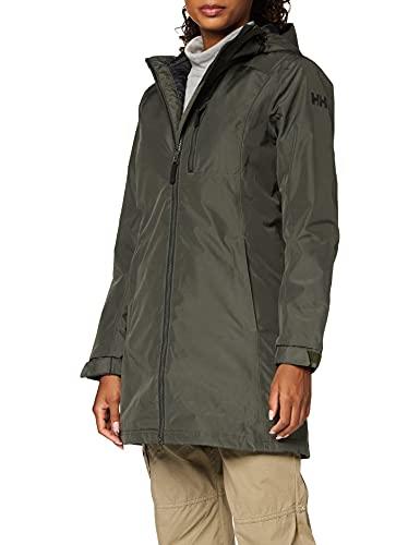 Helly Hansen W Long Belfast Winter Jacket Chaqueta, Mujer, Beluga, XS