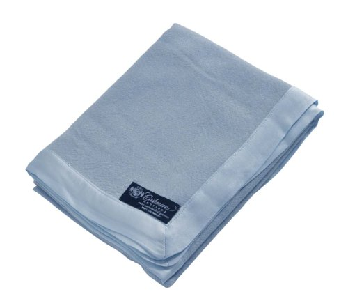 Cashmere Boutique: 100% pura cachemira manta de bebé (color: azul bebé, tamaño: 35.8 x 39.4in)