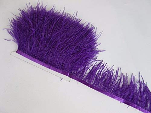 10Meter lowest price 3-4Inch Some reservation Ostrich Feather Ribbon for Craft-Ostric DIY Trim