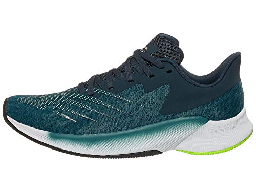 New Balance Men's FuelCell Prism V1 Running Shoe, Jet Stream/Lime Glo, 7.5 W US