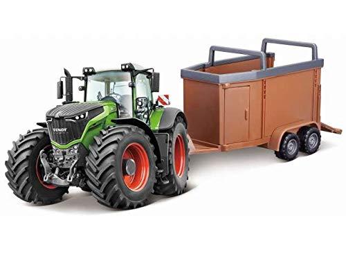 Bburago Modell Farm Fendt 1050 Vario Traktor + Anhänger / Livestock Forwarder