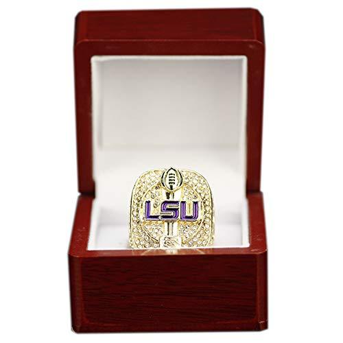 WSTYY NCAA Basketballspiel 2019 Louisiana University Championship Ring, Eine Kopie des Meisterschaftsrings, Souvenirschmuck,with Box,15#