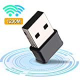 Gaoni - Adattatore USB WiFi, 1200 Mbps, mini dongle wireless con doppia banda 5,8 GHz/2,4 ...