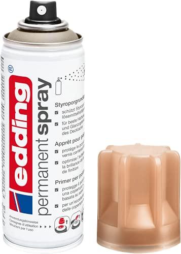 edding 5200 Permanent Spray Styroporgrundierung – braun – Basis für ein gleichmäßiges Ergebnis der anschließenden Lackierung von Styropor-Oberflächen – Inhalt: 200 ml
