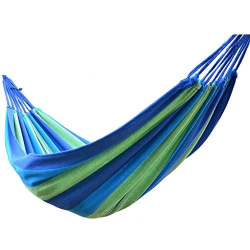 WXGM Hamac de Camping Personnes célibataires Double Personnes Toile épaisse, Anti-Renversement (Couleur : Bleu, Taille : 280×150cm)