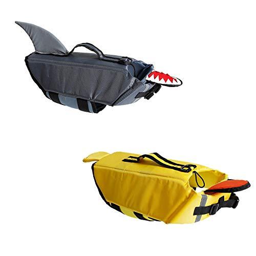 ZXYSR Schwimmweste für Hunde,Reflektierende Hundeschwimmweste für maximale Sicherheit im und am Wasser beim Schwimmen,Natural,L