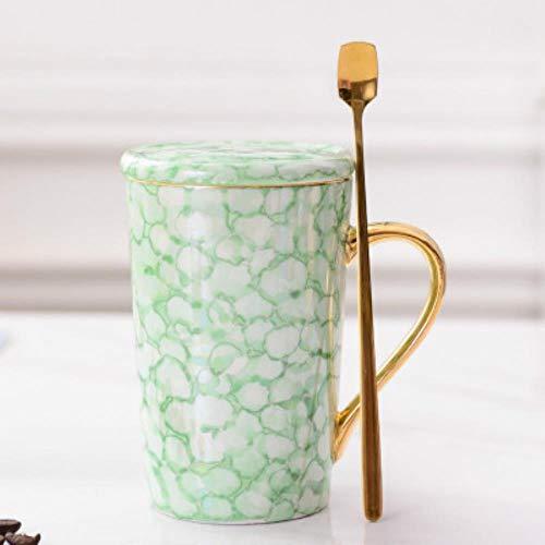 Espressotasse Geschenk Tasse Kreative Einfache Kaffeetasse Großraum Haushaltskeramik Wasserbecher Kaffeetassen Handgriff Keramik, Grün