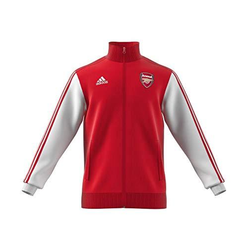 adidas Herren Trainingsjacke Arsenal FC 3 Stripes Track Top, Scarlet, 2XL, FQ6941