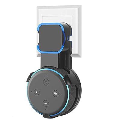 Dot Wall Mount Holder Hanger for 3rd Gen for Dot 3rd Generation Smart Home Speaker (1 pc, Black) from Cinolink