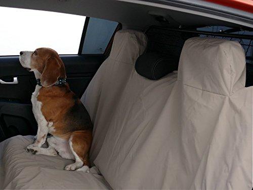 Hundedecke Autoschutzdecke WASSERFEST Auto Schutzdecke Hunde 140x180cm BEIGE