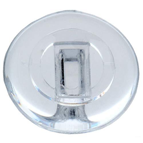 2 Paar (4 Stück) Nasenpads/Brillenpads - Silikon Klicksystem, verschie. Größen (Rund 9mm)