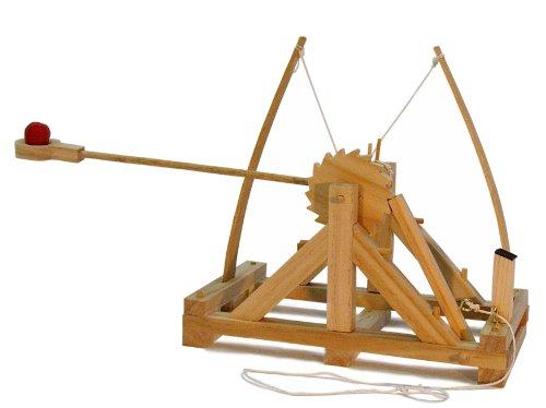 Fun Trading PFD-17 4117 - Holzbausatz nach Leonardo Da Vinci, Funktionsmodell Miniatur Katapult