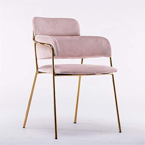 Tuqia Meubel-theestoel make-up stoel manicure kruk ijzer thee winkel restaurant rugleuning kruk hoge bank met leuning grootte 48 * 58 * 80 cm woonkamermeubels stoelen