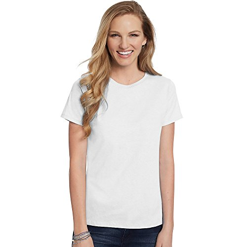 Hanes Women's Relaxed Fit Jersey ComfortSof Crewneck T-Shirt_White_XL