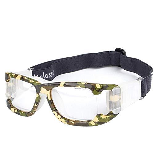 Aeromdale Sportbrillen Schutz Sicherheit Schutz Basketball Brille mit verstellbarem Gurt für Basketball Fußball Volleyball Hockey Fußball Eyewear Protector Unisex - # I - # 8