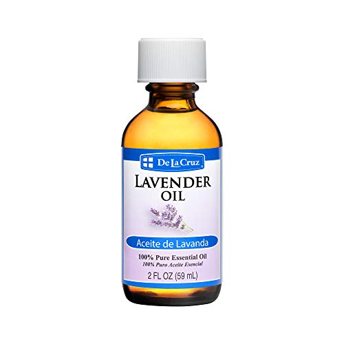De La Cruz Pure Lavender Essential Oil, Steam-Distilled, Bottled in USA 2 FL. OZ. (1 Bottle)