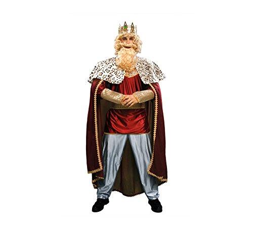 Disfrazzes - Disfraz de rey mago rojo - traje de rey mago