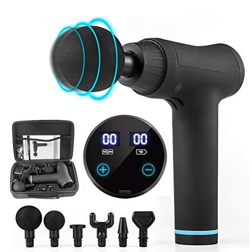 Woorea Massagepistole, elektrische Faszienmassagepistole, Muskelvibration, Entspannung, Schlagpistole, LCD-Display, tragbare Fitnessgeräte