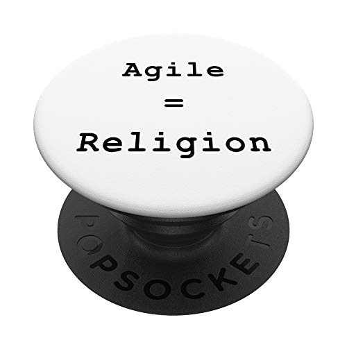 Agile = Religion Scrum Project Management Funny PM Coach PopSockets PopGrip: Agarre intercambiable para Teléfonos y Tabletas