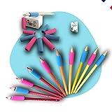 Outils guide doigt ergonomique pour crayon ou stylo, embout aide à l'apprentissage de l'écriture, correcteur de posture. Matériel pour dessin, écrire. Ideal petite moyenne section. Set de 10