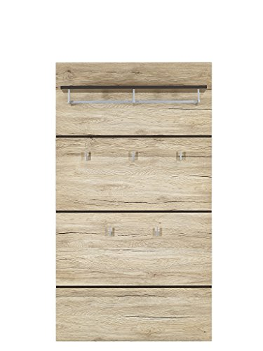 Stella Trading Fresh Garderobenpaneel, Holz, Braun, (B/H/T) 100 x 145 x 25 cm