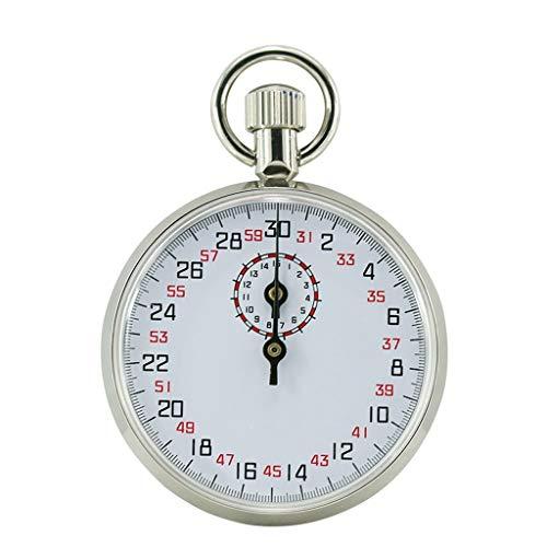 WWWANG Mecánica Stopwatch504 505 803 806 Cronómetro Atletismo Correr Deporte Competencia Temporizador Textura del Metal fácil de Usar Almacenamiento pequeño, práctico y portátil (Color : Silver)