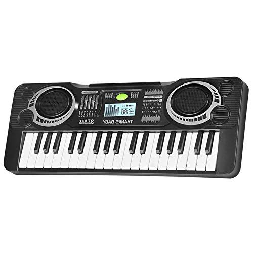 Teclado de piano electrónico de 37 teclas, piano eléctrico, instrumento musical con...